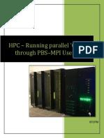 MPI C Through PBS