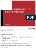 Biopharmaceuticals - A Shift in Paradigm