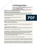 Remoteness of Damage Notes