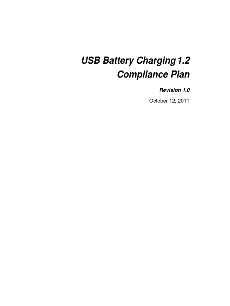 Usb Battery Charging 12 Charger Full Compliance