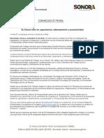 01/11/16 Es Sonora líder en capacitación, adiestramiento y productividad -C.1016120