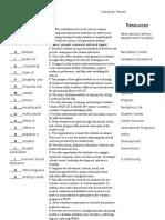 academic resources worksheet