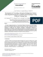Investigation of Cascading Adsorption Refrigeration