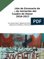 Preparación del Escenario de Actos de Iniciación del Cuadro de Honor 2016-2017