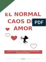El Normal Caos Del Amor u Beck Ana Ferrero Paulino