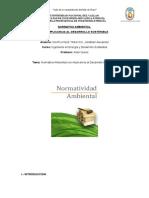 NORMATIVA AMBIENTAL Con Implicancia Al Desarrollo Sostenible