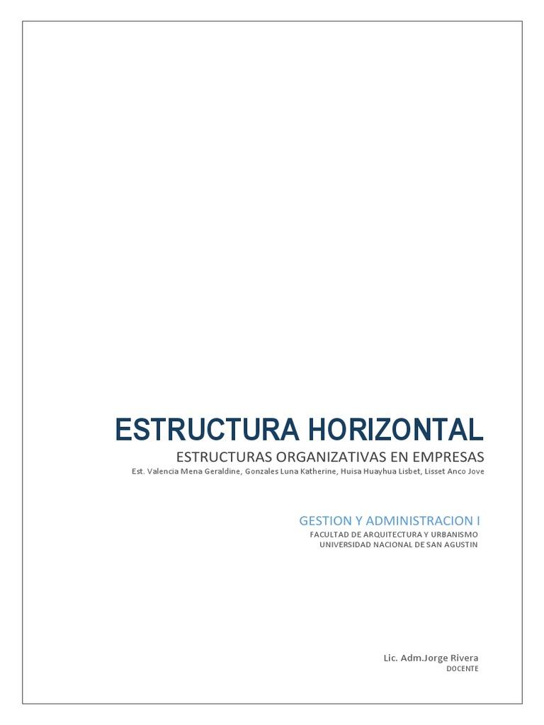 Estructura Horizontal Valencia G Gonzales K Anco L Huisa L