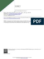 Germanic & Moorish Elements of Spainish Civil Law