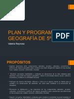 Plan y Programa de Geografía de 5º