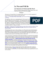 the unknown character of christ and his word