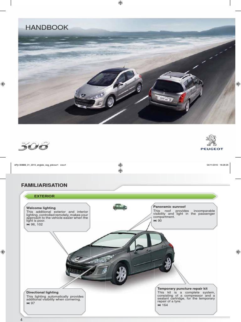 Peugeot 308 Owner Manual.pdf   Manual Transmission ...