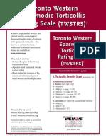 Toronto Western Spasmodic Torticollis Rating Scale TWSTRS