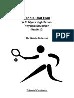 tennis grade 10 unit plan - nat