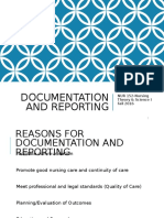 Documentation and Reporting