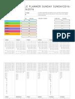Event Schedule Planner 2016