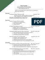 granata official resume 2016