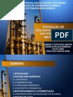 Produção de Solventes Orgânicos - Fermentação Microbiana