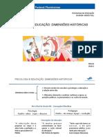PSICOLOGIA E EDUCAÇÃO DIMENSÕES HISTÓRICAS