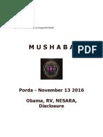 The Mushaba Energy..on Obama