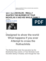 Why Rothschilds Wanted Tzar Nicholas II Murdered