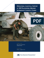 [Operational Logistical Support of Un Pko[Intermediate Logistics Course]
