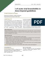 Management of Acute Viral Bronchiolitis In