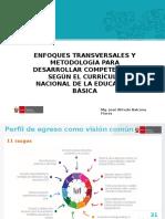 2. Enfoques Transversales y Metodología Para Desarrollar Competencias Según El Currículo Nacional de La Educación Básica