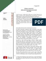 Istat - I bilanci consuntivi delle amministrazioni provinciali Anno 2008