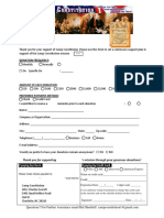 Donation Form to support Camp Constitution
