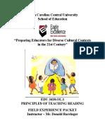 edu 3410 field experience packet
