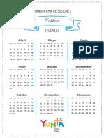 Calendarización KALLPA