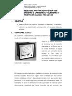 Lab 4 Medida Del Factor de Potencia Con Cosfímetro o Vatímetros
