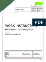 BMI WI 5762 03 Crane Safety Usage