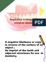 Impression making in Complete denture