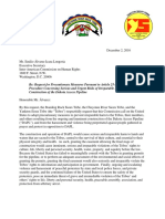 Standing Rock, Cheyenne River & Yankton Sioux Tribes - Request for Precautionary Measures - FINAL Dec 02, 2016 - With Exhibits