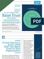 Raise Trust in Your Organization
