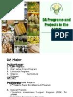 DA Programs in ARMM