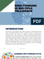 Learning Thinking Style & Multiple Intelligence