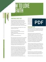 How to Love by Faith