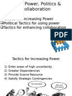 Using Power, Politics & Collaboration