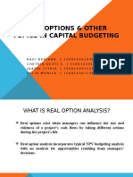 Real Options & Other Topics in Capital Budgeting