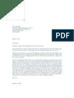 Letter to Bruce Berkowitz