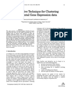 An Effective Technique for Clustering Incremental Gene Expression data