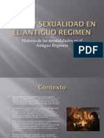 Amor y Sexualidad en El Antiguo Regimen