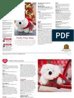 LW5315 Fluffy Polar Bear Free Knitting Pattern