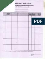 Attendence Sheet Format