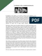 Resumen de Introducción Al Derecho Romano