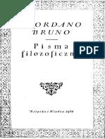 Giordano Bruno Pisma Filozoficzne1956
