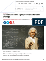 13 Science-backed Signs You'Re Smarter Than Average _ the Independent