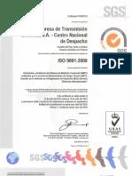 ETESA - Certificacion ISO 9001 2008